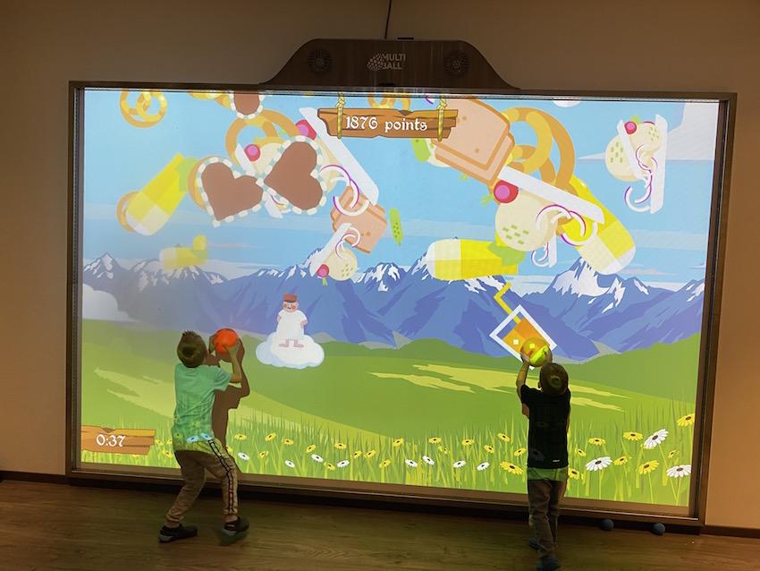 Video Soccer Wand im Alpenrose Familux Resort